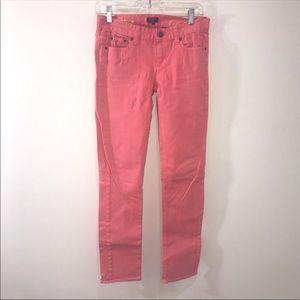 J. CREW Salmon Matchstick Skinny Jeans